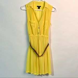 H&M Yellow Belted Dress